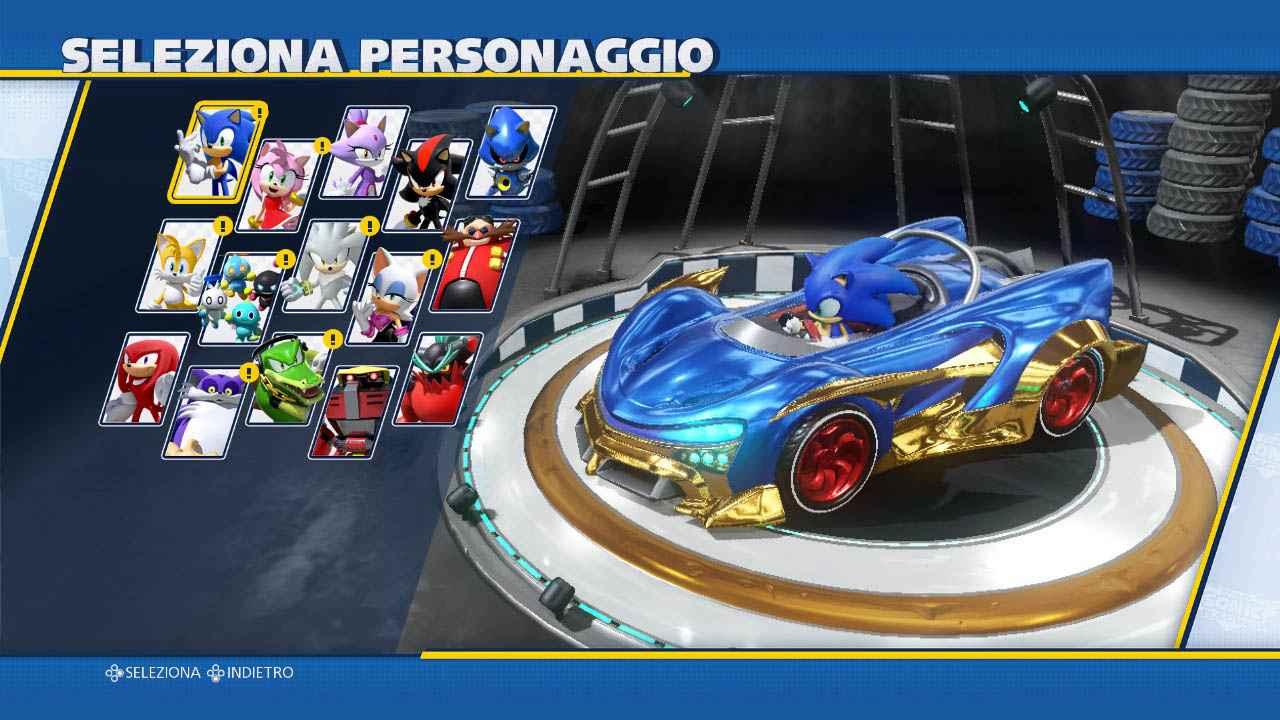 Sonic in macchina