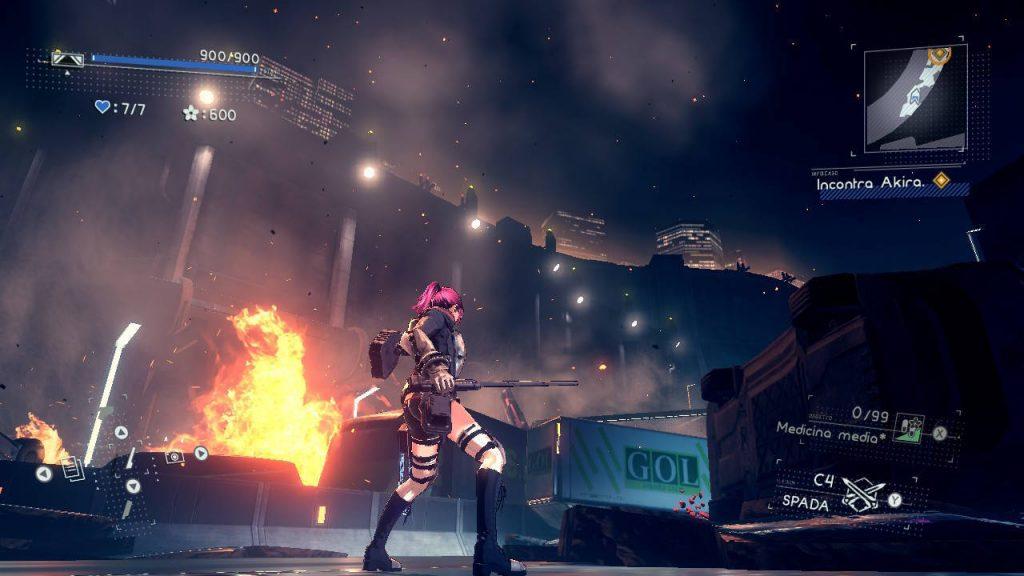 Una delle scene più evocative di Astral Chain, brava Platinum Games