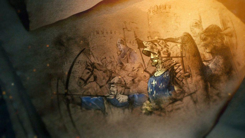 Fermo immagine del filmato di apertura di Age of Empire 2.