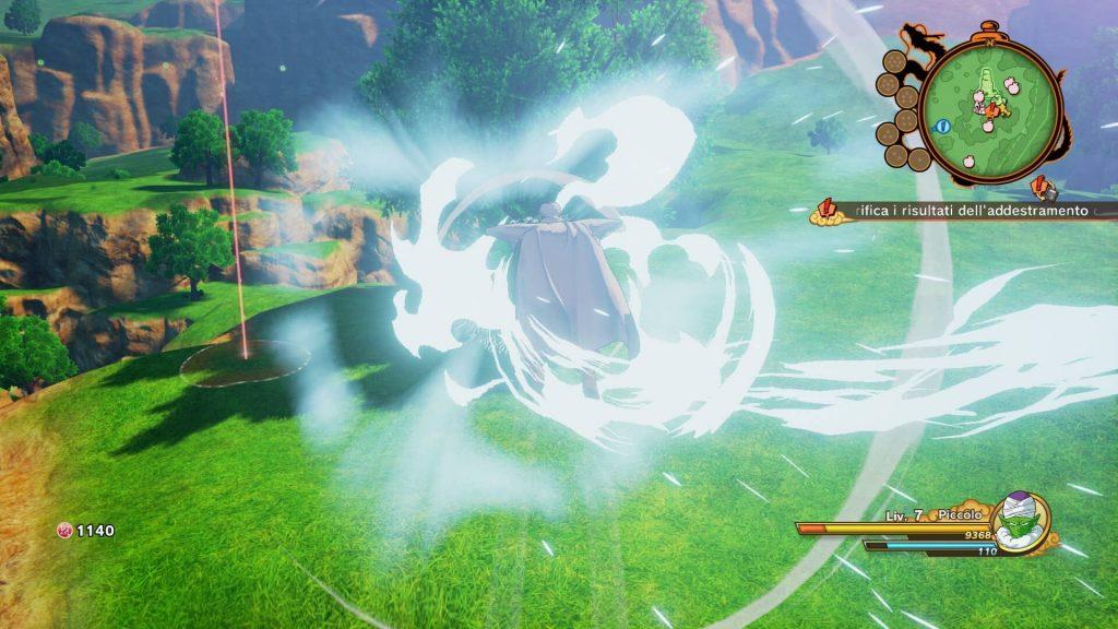 Esempio di combattimento in Kakaroth