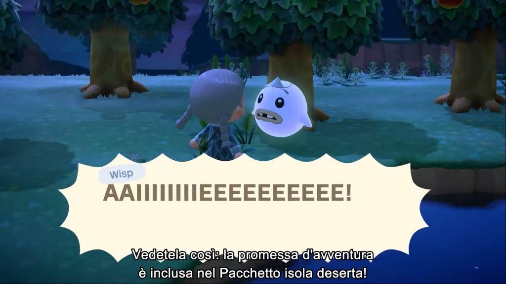 Un wisp su Animal Crossing New Horizons