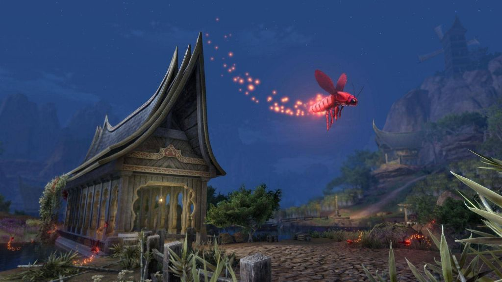 Un piccolo insetto rosso simile a una lucciola illumina le notti in The Elder Scrolls Online