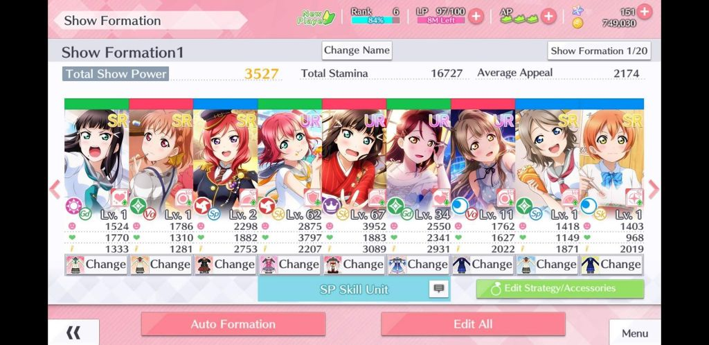 Love Live All Stars formation