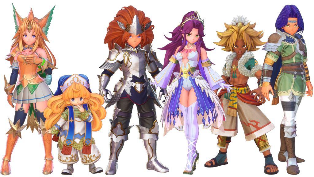 Gli eroi di Trials of Mana versione Light