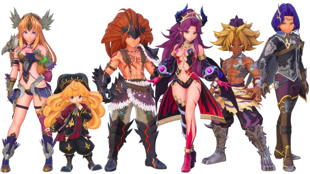 I personaggi di Trials of Mana versione dark