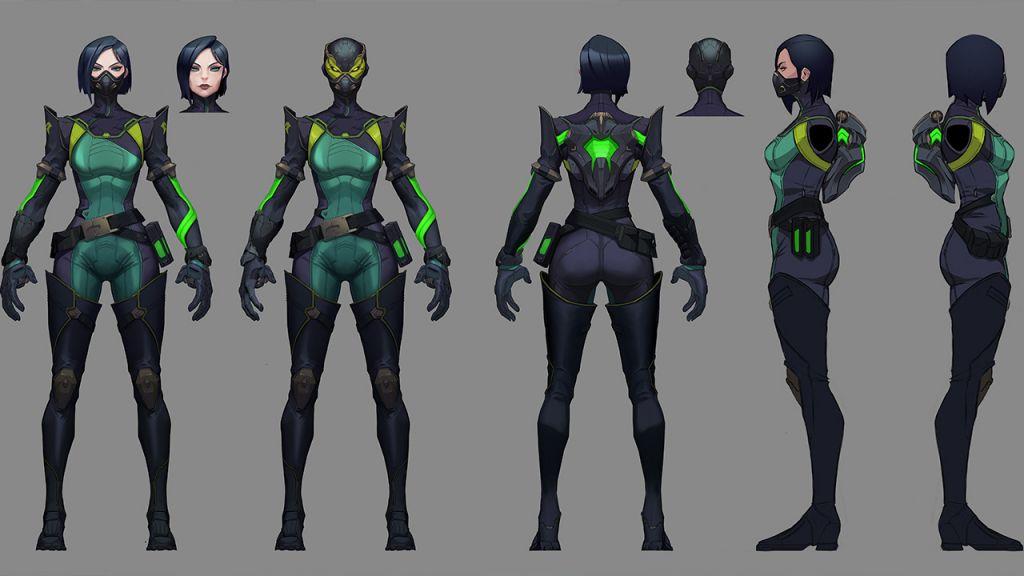 Il concept art di Viper, uno dei personaggi in Valorant