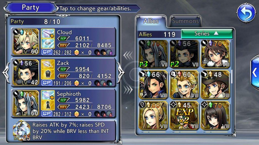 Dissidia Final Fantasy Opera Omnia characters