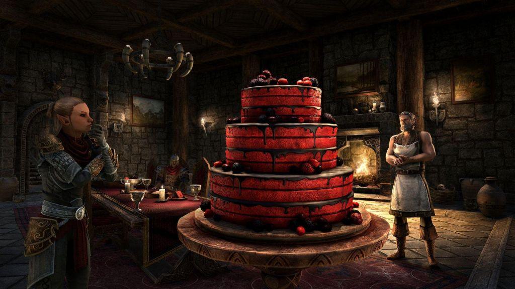 Una speciale torta di compleanno per l'evento dell'Anniversary Jubilee su The Elder Scrolls Online