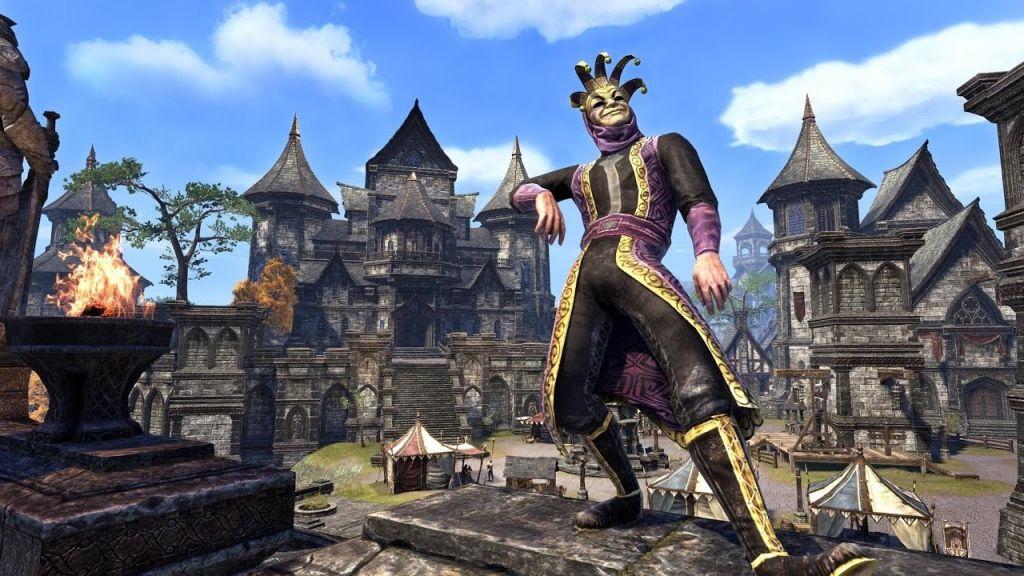 Un giullare durante il Jester's Festival in The Elder Scrolls Online
