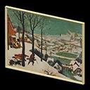 Quadro invernale - Cacciatori nella neve - Nel falso è presente un solo cacciatore