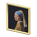 Quadro realista - Ragazza con orecchino di perla - nel falso l'orecchino è una stella