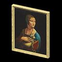 Quadro simbolico - Dama con ermellino - Nel falso, l'ermellino ha il manto scuro