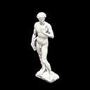 Volpolo Statua maestosa - David di Michelangelo - Il falso tiene un libro nella mano destra