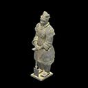 Statua guerriera - Guerriero di Terracotta - Il falso ha una targhetta ai suoi piedi