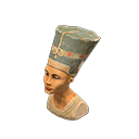 Statua enigmatica - Nefertiti - Il falso ha un orecchino pendente all'orecchio destro