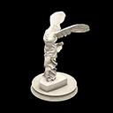 Statua eroica - Nike di Samotracia - Il falso è speculare all'originale, con la gamba sinistra più avanti della destra