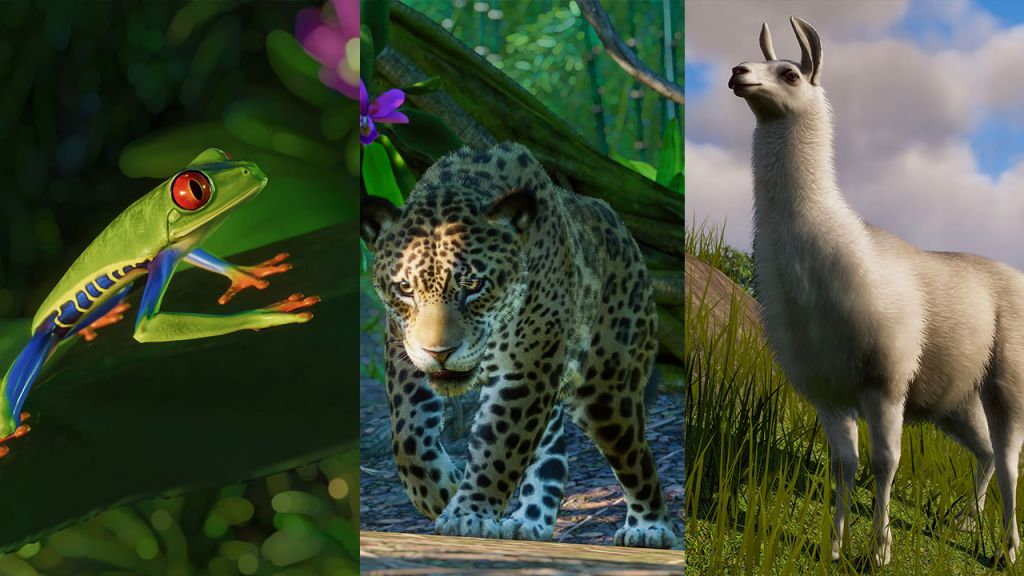 Alcuni dei nuov ianimali di Planet Zoo South America
