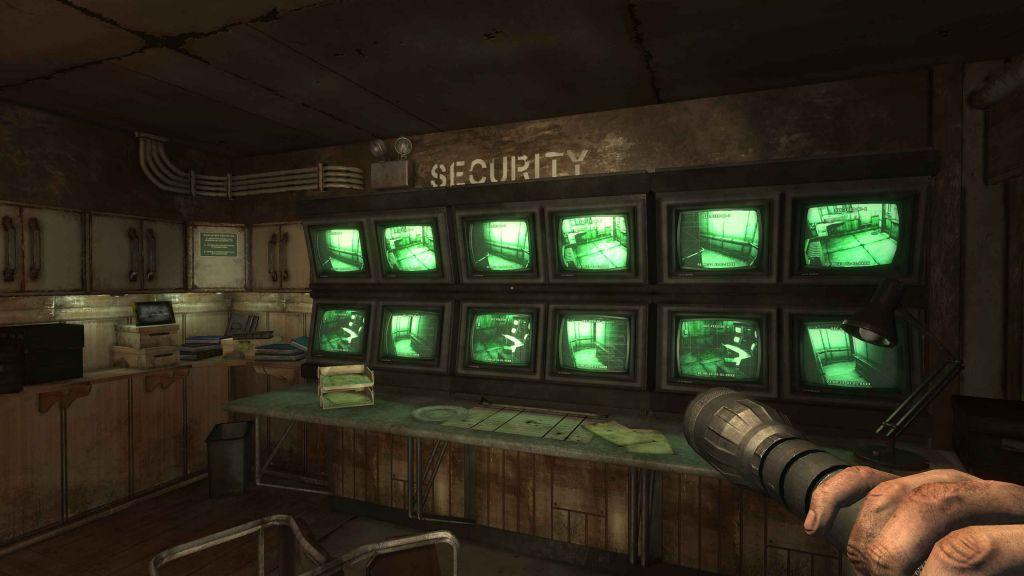 La stanza della security sulla nave cargo di Monstrum