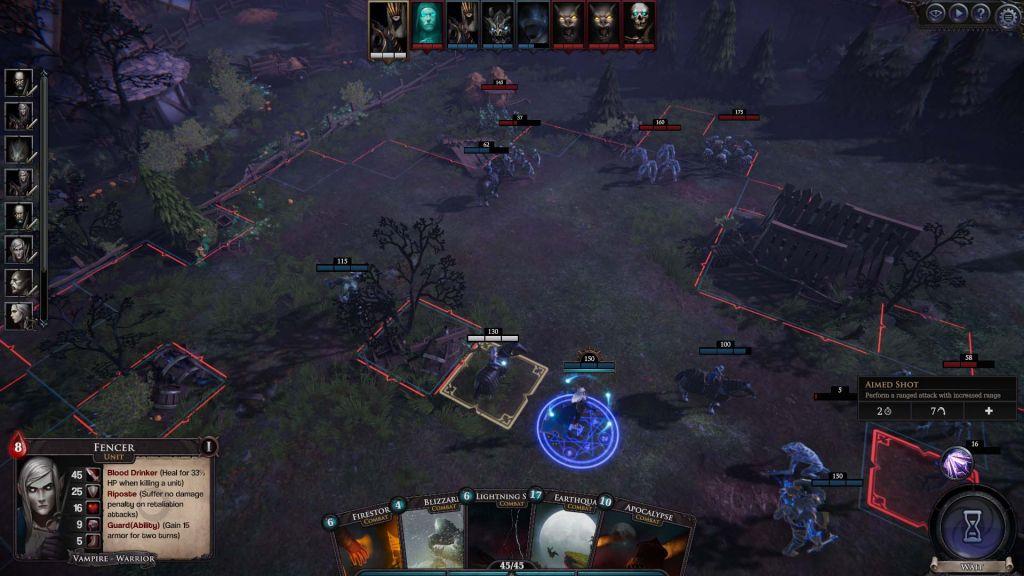 Uno screenshot da Immortal Realms: Vampire Wars