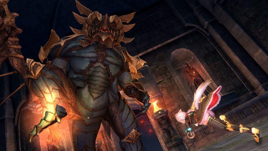 Uno dei Monstrum di Ys IX: Monstrum Nox combatte contro un mostro